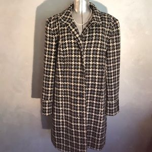 JM Collection Houndstooth Coat XL
